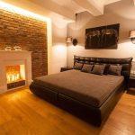 yatak odası taş duvar